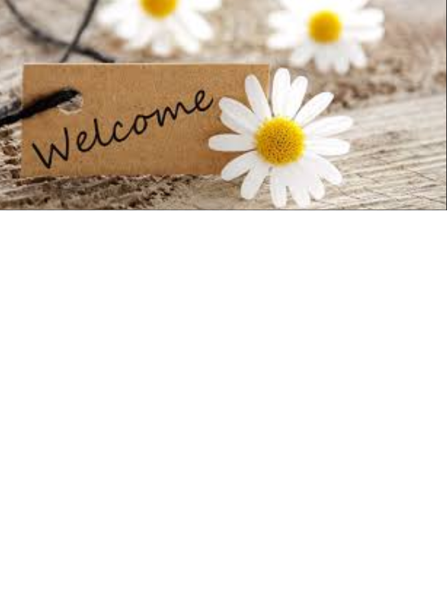 Welcome sign with flower